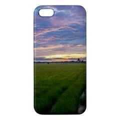 Landscape Sunset Sky Sun Alpha Apple Iphone 5 Premium Hardshell Case