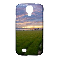 Landscape Sunset Sky Sun Alpha Samsung Galaxy S4 Classic Hardshell Case (pc+silicone)