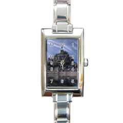 Mont Saint Michel France Normandy Rectangle Italian Charm Watch by Nexatart