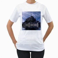 Mont Saint Michel France Normandy Women s T Shirt (white) (two Sided)
