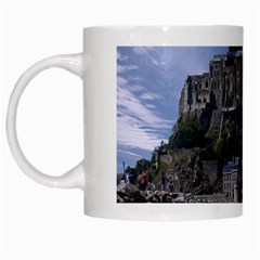 Mont Saint Michel France Normandy White Mugs by Nexatart