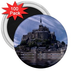 Mont Saint Michel France Normandy 3  Magnets (100 Pack)