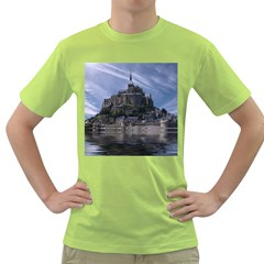 Mont Saint Michel France Normandy Green T Shirt