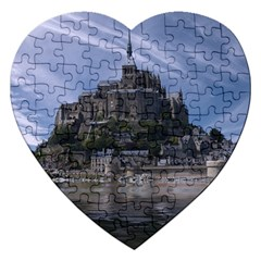 Mont Saint Michel France Normandy Jigsaw Puzzle (heart)
