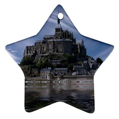 Mont Saint Michel France Normandy Star Ornament (two Sides)