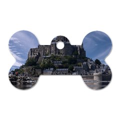 Mont Saint Michel France Normandy Dog Tag Bone (two Sides) by Nexatart