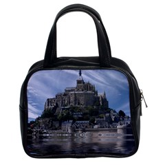 Mont Saint Michel France Normandy Classic Handbags (2 Sides) by Nexatart