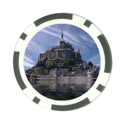 Mont Saint Michel France Normandy Poker Chip Card Guard (10 Pack)