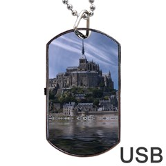 Mont Saint Michel France Normandy Dog Tag Usb Flash (two Sides)