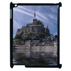 Mont Saint Michel France Normandy Apple Ipad 2 Case (black) by Nexatart