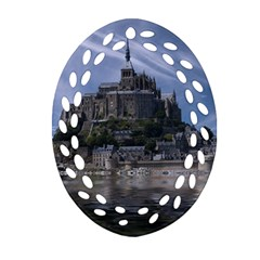 Mont Saint Michel France Normandy Ornament (oval Filigree)