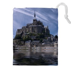 Mont Saint Michel France Normandy Drawstring Pouches (xxl)