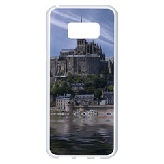 Mont Saint Michel France Normandy Samsung Galaxy S8 Plus White Seamless Case