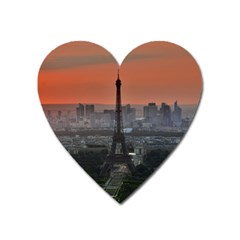 Paris France French Eiffel Tower Heart Magnet
