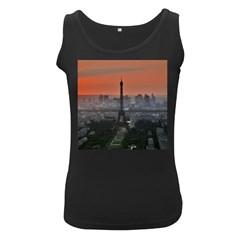 Paris France French Eiffel Tower Women s Black Tank Top
