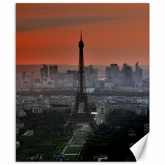 Paris France French Eiffel Tower Canvas 8  X 10  by Nexatart
