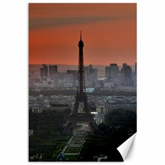 Paris France French Eiffel Tower Canvas 12  X 18   by Nexatart