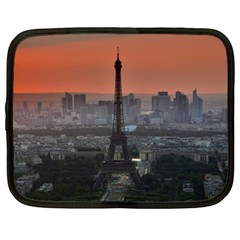 Paris France French Eiffel Tower Netbook Case (large)