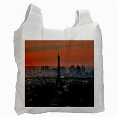 Paris France French Eiffel Tower Recycle Bag (one Side)