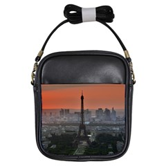 Paris France French Eiffel Tower Girls Sling Bags