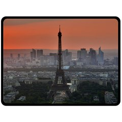 Paris France French Eiffel Tower Fleece Blanket (large)