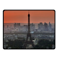 Paris France French Eiffel Tower Fleece Blanket (small) by Nexatart