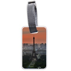 Paris France French Eiffel Tower Luggage Tags (one Side)  by Nexatart