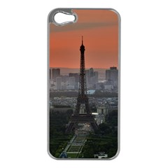 Paris France French Eiffel Tower Apple Iphone 5 Case (silver) by Nexatart