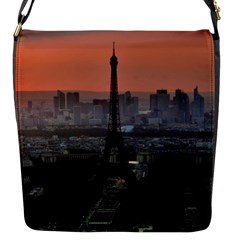 Paris France French Eiffel Tower Flap Messenger Bag (s)