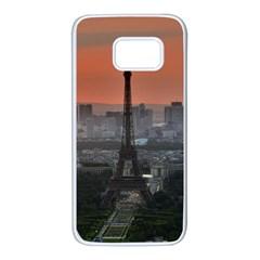 Paris France French Eiffel Tower Samsung Galaxy S7 White Seamless Case