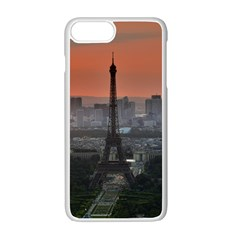 Paris France French Eiffel Tower Apple Iphone 7 Plus White Seamless Case