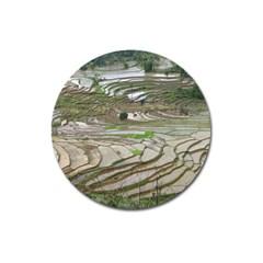 Rice Fields Terraced Terrace Magnet 3  (round) by Nexatart