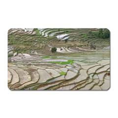 Rice Fields Terraced Terrace Magnet (rectangular)