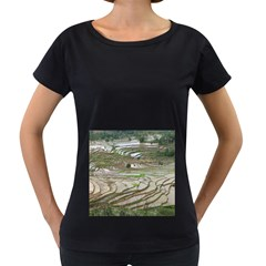 Rice Fields Terraced Terrace Women s Loose Fit T Shirt (black) by Nexatart