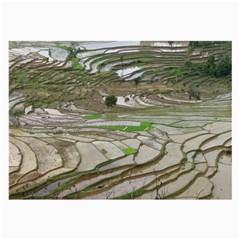 Rice Fields Terraced Terrace Large Glasses Cloth (2 Side)