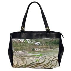 Rice Fields Terraced Terrace Office Handbags (2 Sides)  by Nexatart