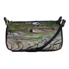 Rice Fields Terraced Terrace Shoulder Clutch Bags by Nexatart