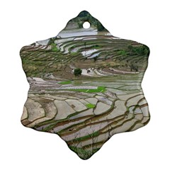 Rice Fields Terraced Terrace Snowflake Ornament (two Sides)