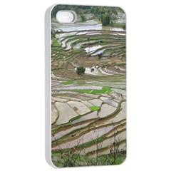 Rice Fields Terraced Terrace Apple Iphone 4/4s Seamless Case (white)
