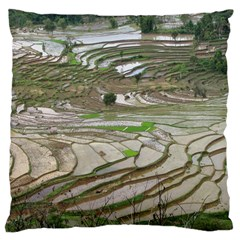 Rice Fields Terraced Terrace Large Cushion Case (two Sides)