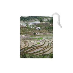 Rice Fields Terraced Terrace Drawstring Pouches (small)