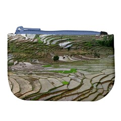 Rice Fields Terraced Terrace Large Coin Purse