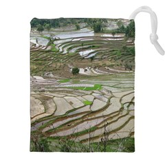 Rice Fields Terraced Terrace Drawstring Pouches (xxl) by Nexatart