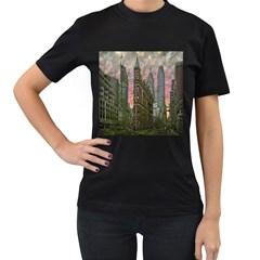 Flat Iron Building Toronto Ontario Women s T Shirt (black) (two Sided)