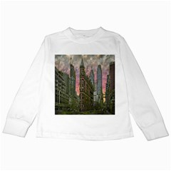 Flat Iron Building Toronto Ontario Kids Long Sleeve T Shirts