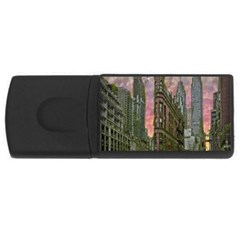 Flat Iron Building Toronto Ontario Rectangular Usb Flash Drive by Nexatart