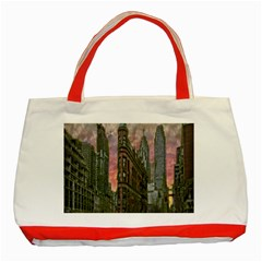 Flat Iron Building Toronto Ontario Classic Tote Bag (red)