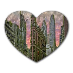 Flat Iron Building Toronto Ontario Heart Mousepads by Nexatart