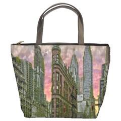 Flat Iron Building Toronto Ontario Bucket Bags