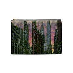 Flat Iron Building Toronto Ontario Cosmetic Bag (medium)  by Nexatart
